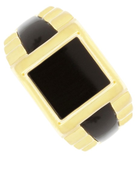Black - Onyx Herrenring Gold