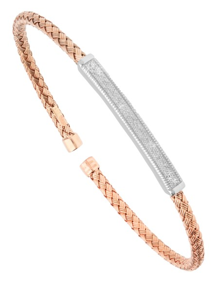 Bangle Beauty - Diamant Armreif Silber rosévergoldet