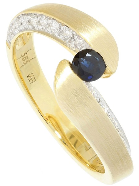 Fontaine - Diamant Saphir Ring mit Edelstein Gold